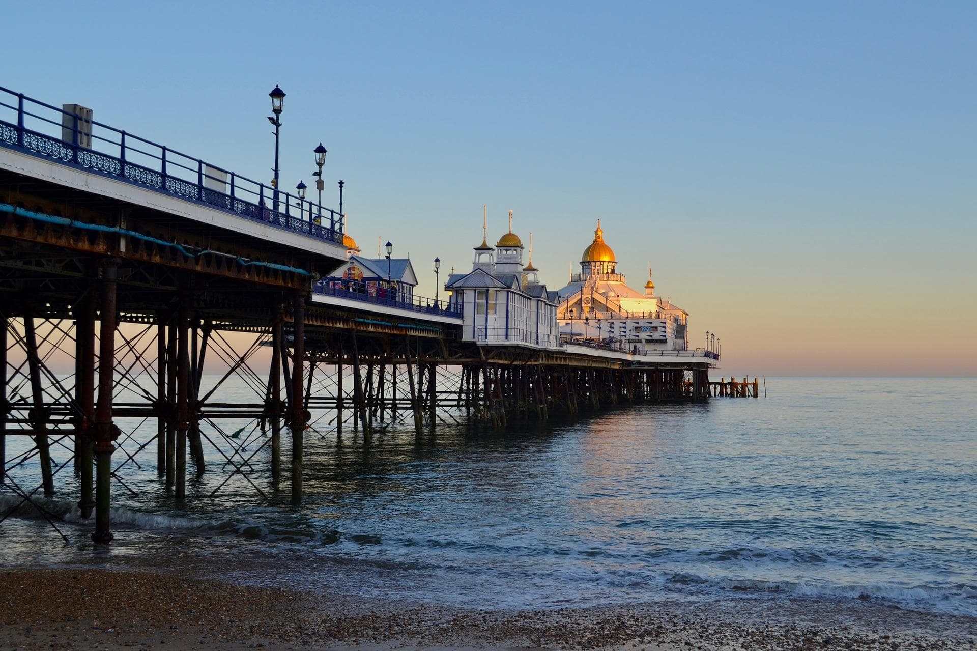 A view of the pier of Eastbourne